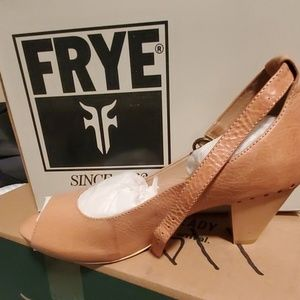 New in box, never worn Frye ankle strap